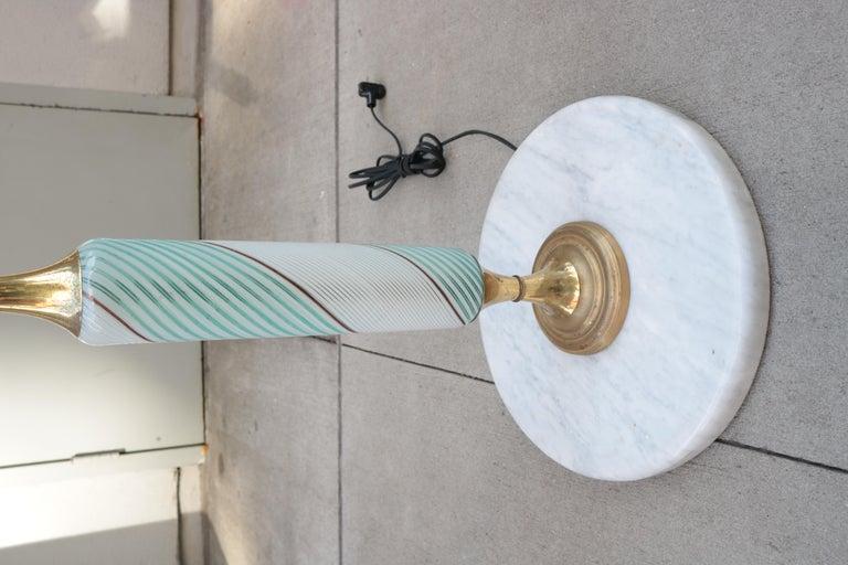 Italian Art Glass Floor Lamp For Sale 1