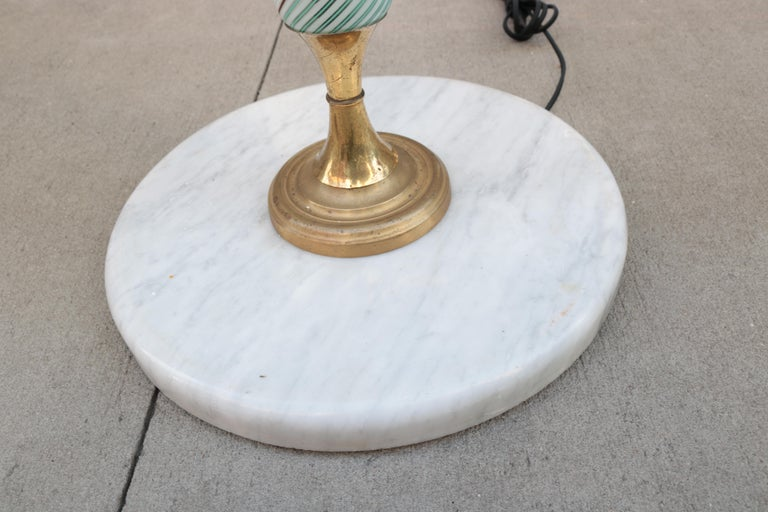 Italian Art Glass Floor Lamp For Sale 2