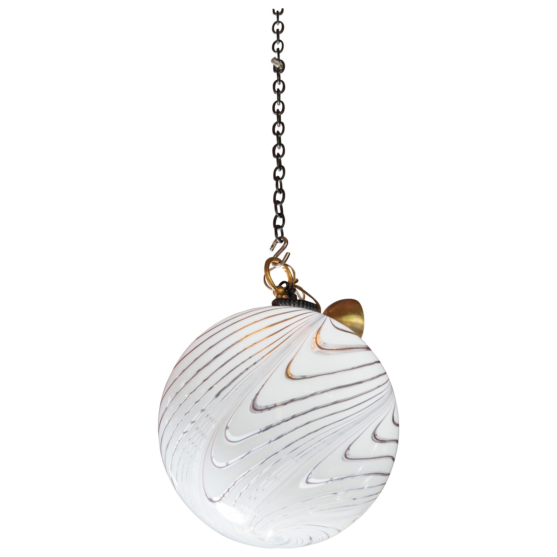 Italian Art Glass Globe Chandelier by Venini