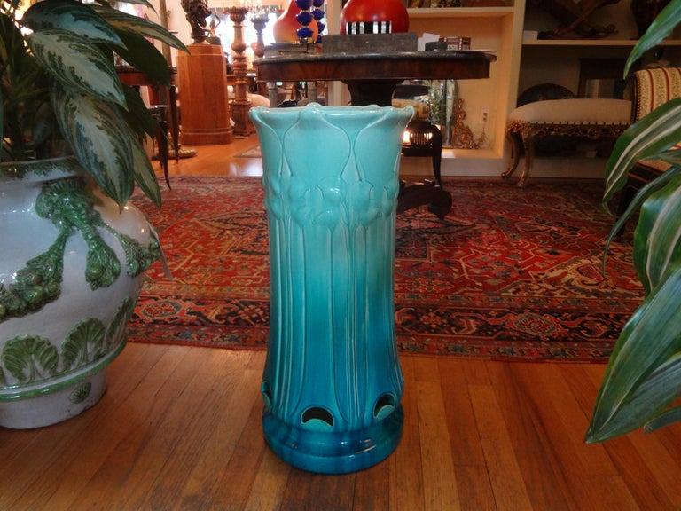 Italian Art Nouveau Majolica Umbrella Stand For Sale 1