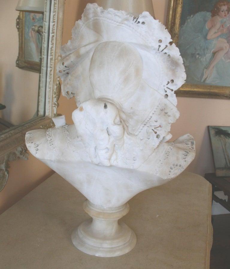 Italian Art Nouveau Marble Sculpture For Sale 2
