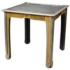 Italian Art Nouveau Style Mirrored Side Table
