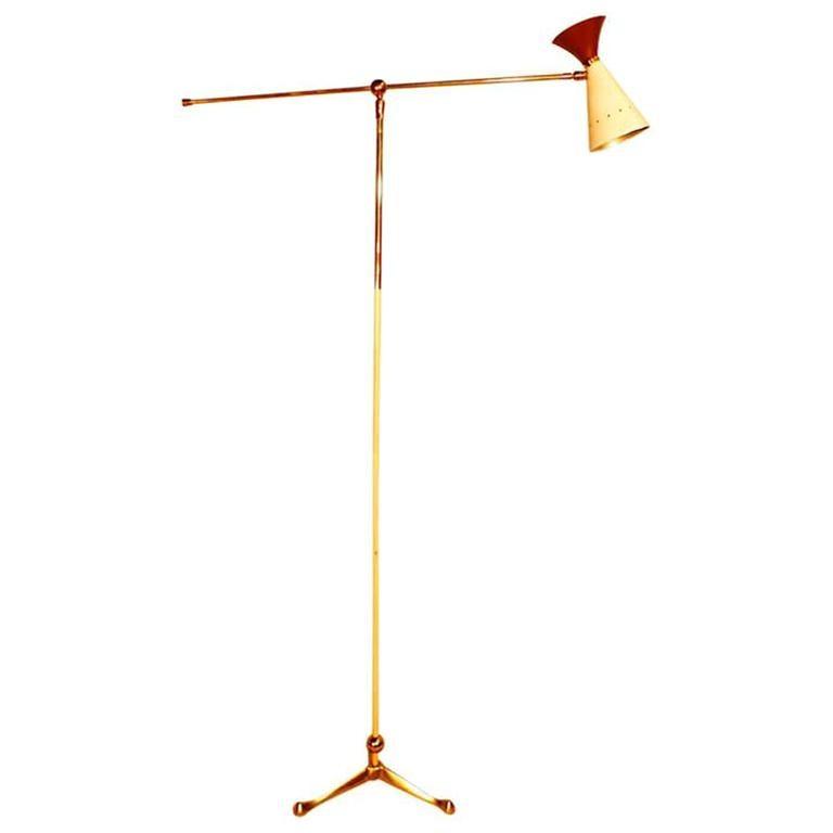 Italian Articulating Floor Lamp by Arteluce