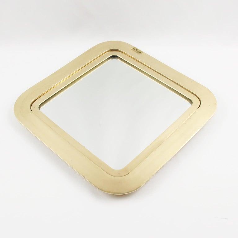 Modern Italian Artist Esa Fedrigolli Large Gilded Bronze Tray Platter For Sale