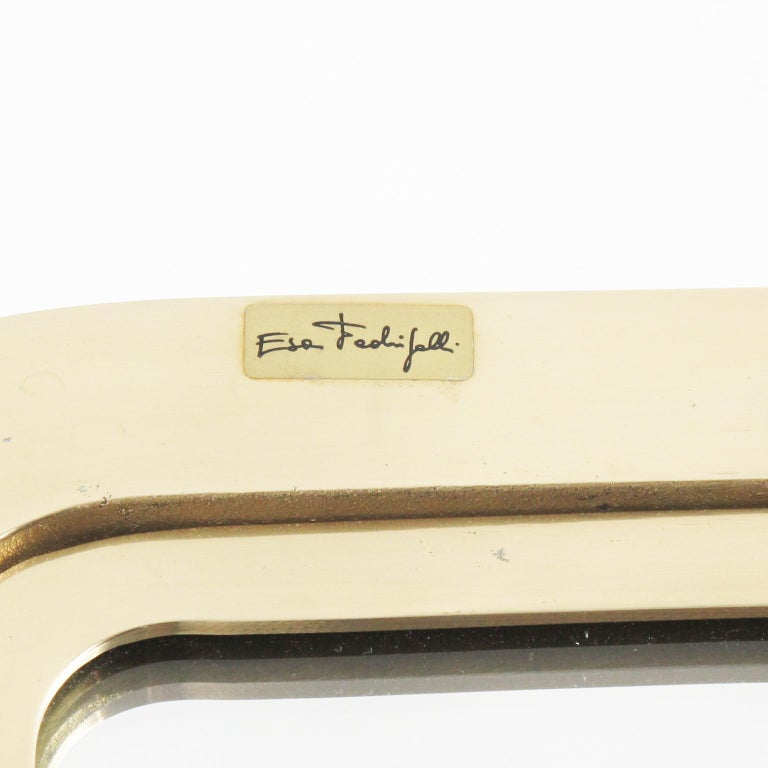 Italian Artist Esa Fedrigolli Large Gilded Bronze Tray Platter For Sale 1