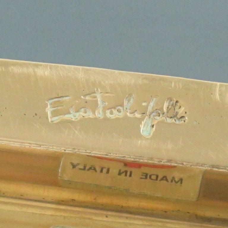 Italian Artist Esa Fedrigolli Large Gilded Bronze Tray Platter For Sale 2