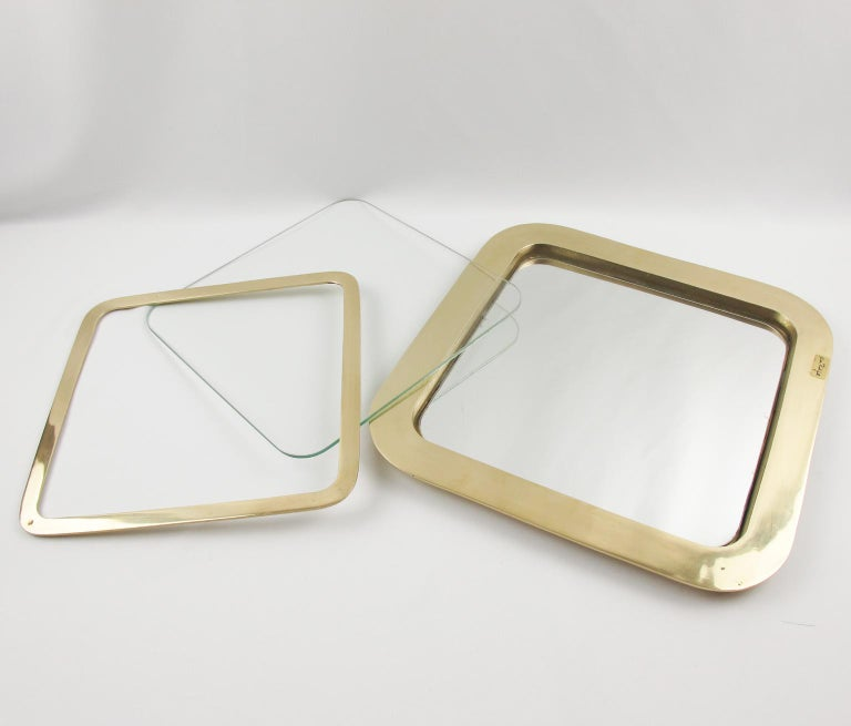 Italian Artist Esa Fedrigolli Large Gilded Bronze Tray Platter For Sale 4
