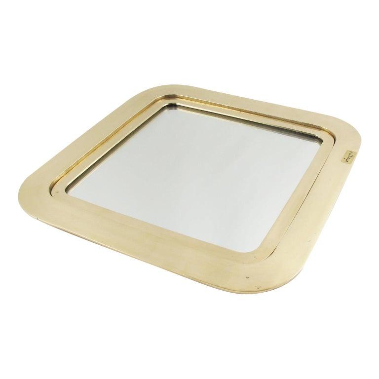 Italian Artist Esa Fedrigolli Large Gilded Bronze Tray Platter For Sale