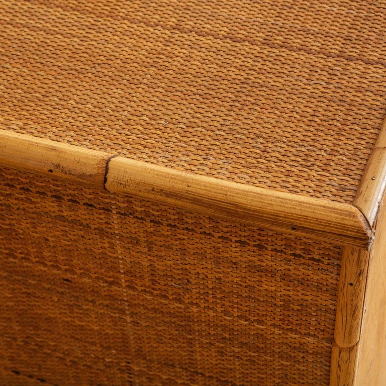 Italian Bamboo and Rattan Dresser, 1970s  For Sale 4