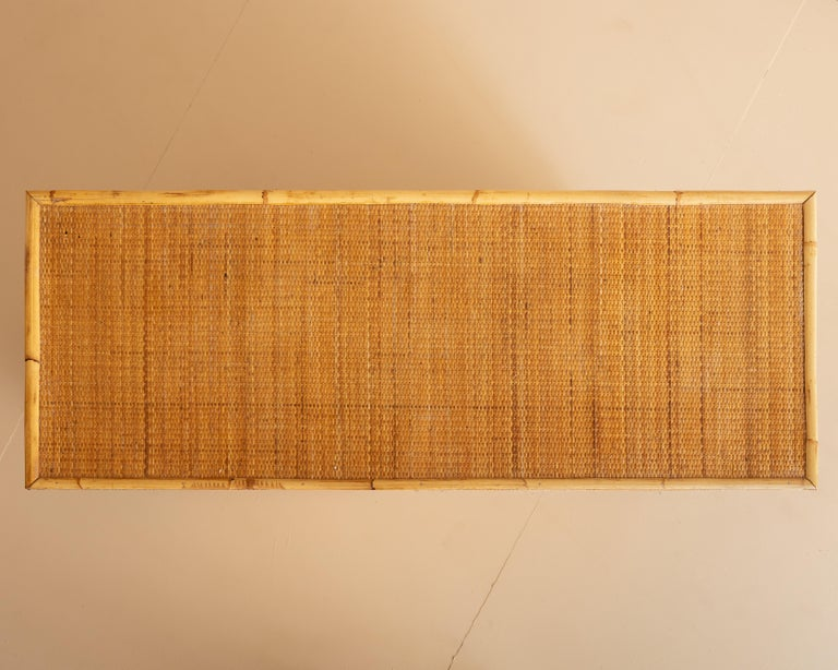 Italian Bamboo and Rattan Dresser, 1970s  For Sale 2