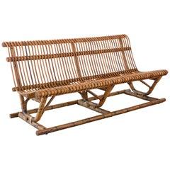 Italian Bamboo Bench 'Pair Available'