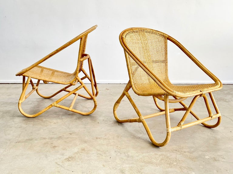 Mid-20th Century Italian Bamboo Chairs For Sale