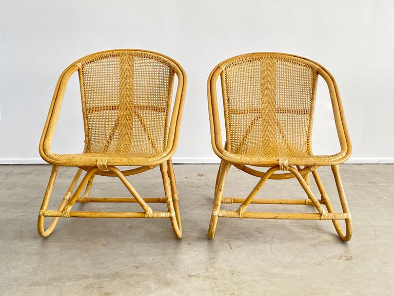Italian Bamboo Chairs For Sale 1