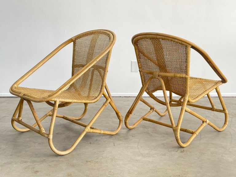 Italian Bamboo Chairs For Sale 2