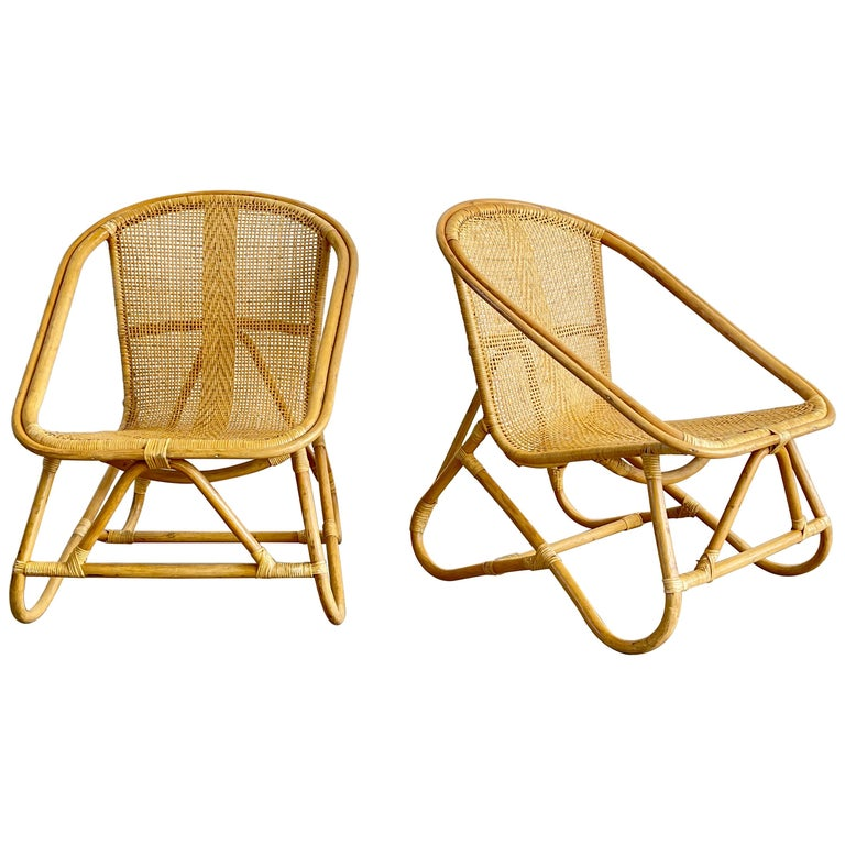 Italian Bamboo Chairs For Sale