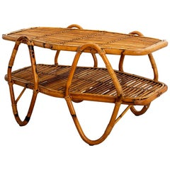 Italian Bamboo Coffee Table