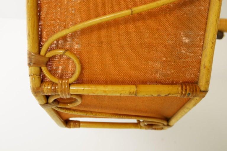 European Italian Bamboo Floor Lamp, 1960s For Sale