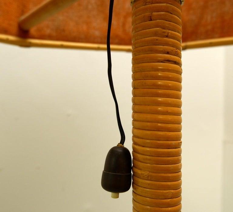Mid-20th Century Italian Bamboo Floor Lamp, 1960s For Sale