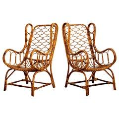 "Italian Bamboo ""Lady"" Chairs"
