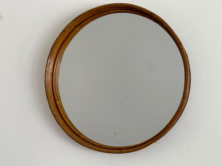 Italian Bamboo Mirror In Good Condition For Sale In Los Angeles, CA