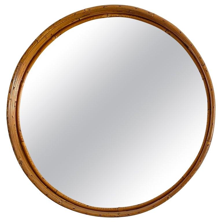 Italian Bamboo Mirror For Sale