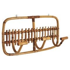 Italian Bamboo Rattan Coat Rack