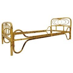 Italian Bamboo Sofa-Bed, 1960s