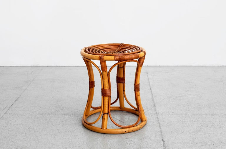 Italian Bamboo Stools In Good Condition For Sale In Los Angeles, CA