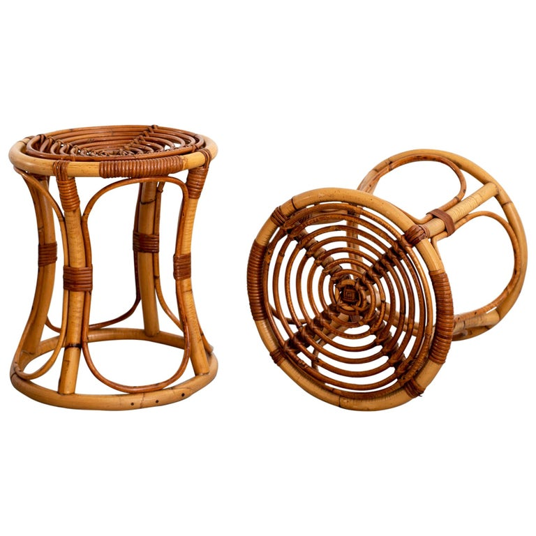 Italian Bamboo Stools For Sale