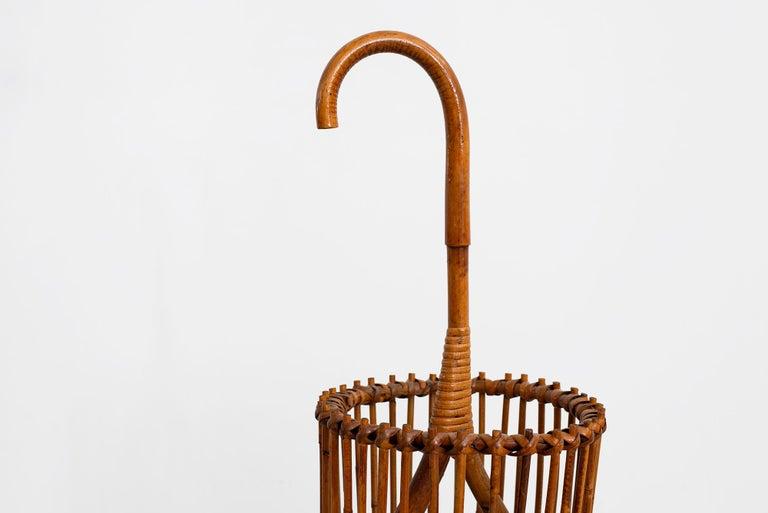 20th Century Italian Bamboo Umbrella Holder For Sale
