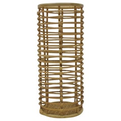 Italian Bamboo Umbrella Stand Attributed to Vittorio Bonacina, 1970s