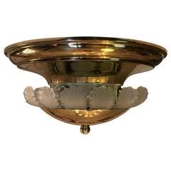 Italian Banci Firenze 1980s Ceiling Light Brass Eight-light Flush Mount