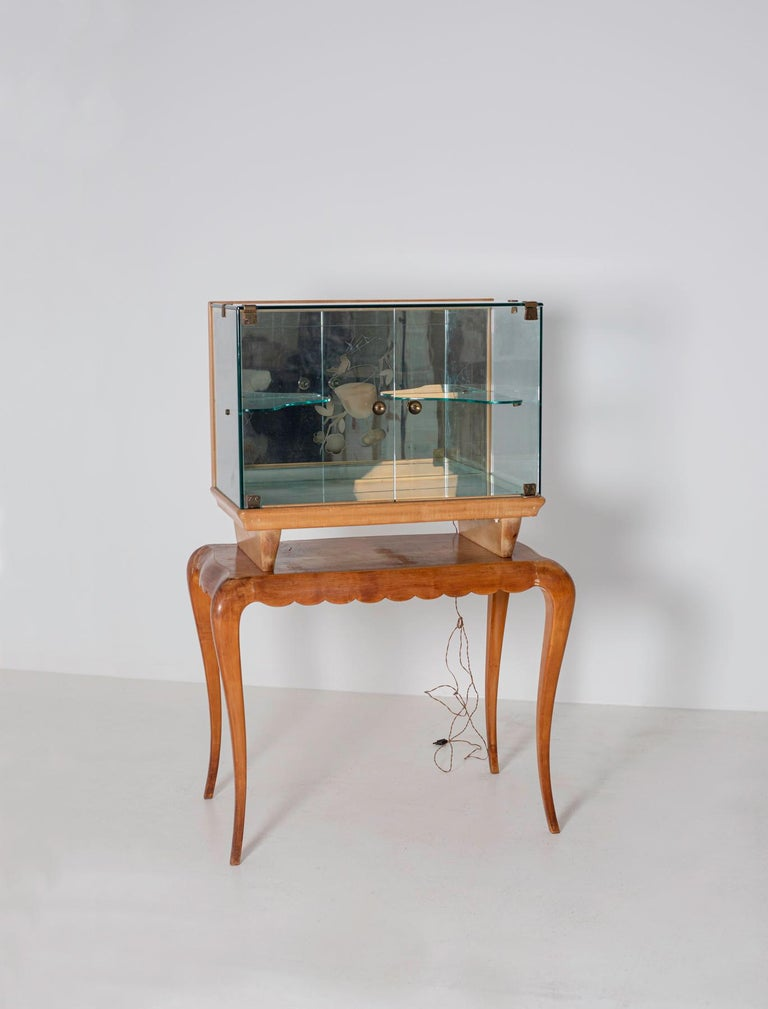 Italian Bar cabinet attributed to Pietro Chiesa for Fontana Arte, 1950s For Sale 4
