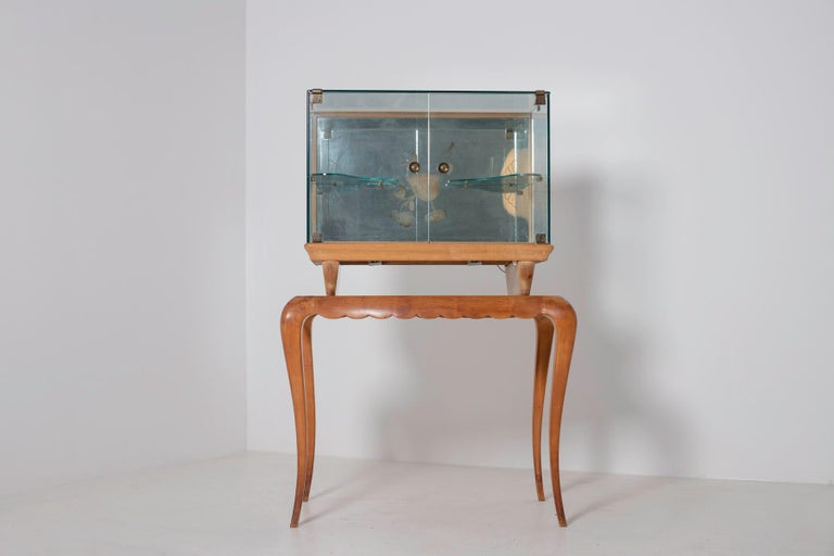 Italian Bar cabinet attributed to Pietro Chiesa for Fontana Arte, 1950s For Sale 3