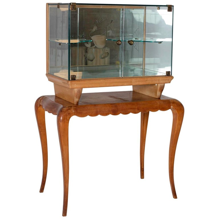 Italian Bar cabinet attributed to Pietro Chiesa for Fontana Arte, 1950s For Sale