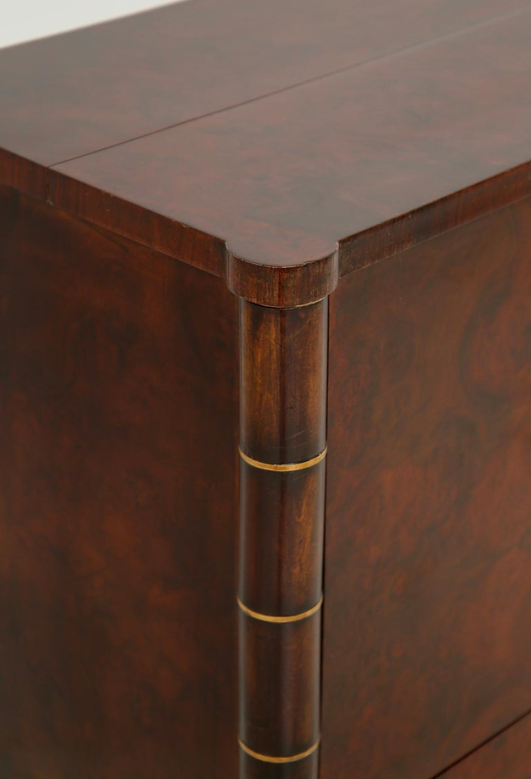 Italian Bar Cabinet by Tomaso Buzzi in Wood and Brass, Verified Archive 7