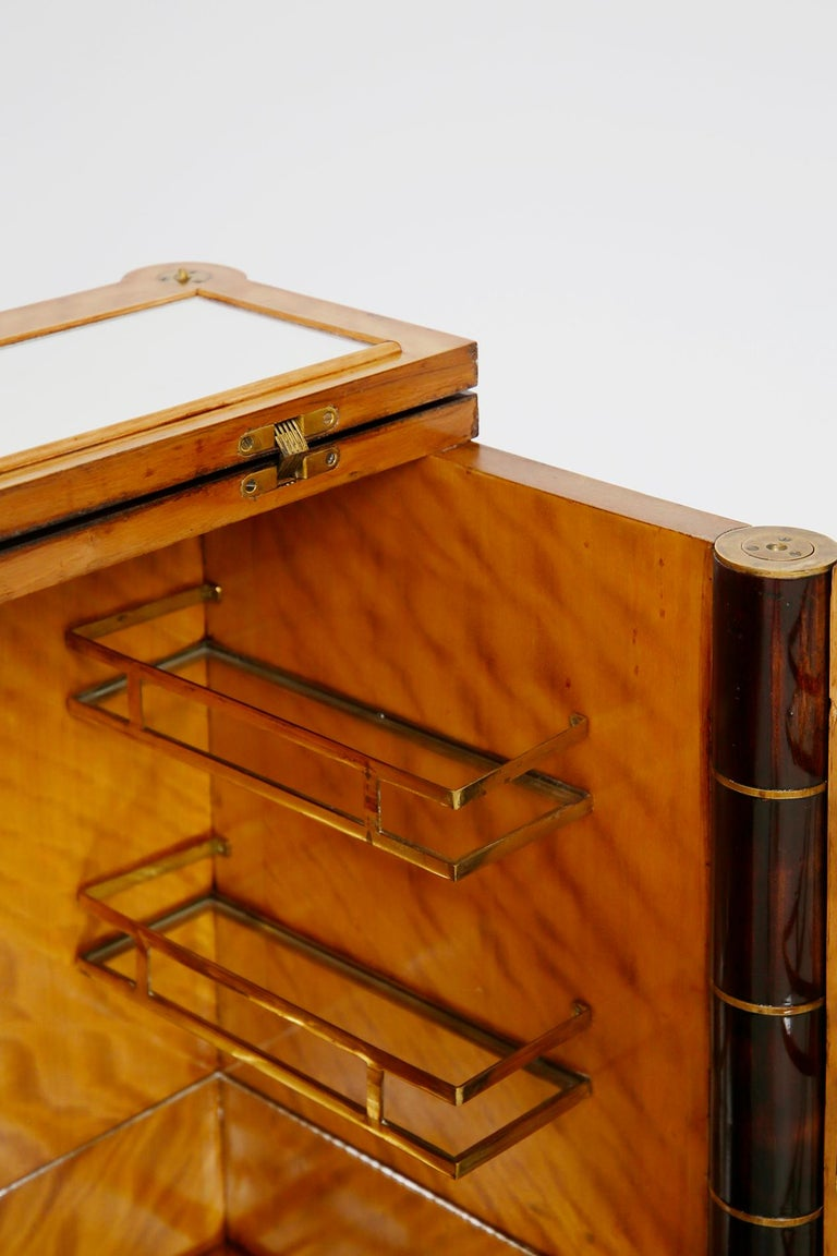 Italian Bar Cabinet by Tomaso Buzzi in Wood and Brass, Verified Archive 3