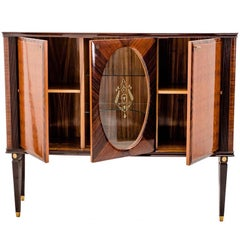 Italian Bar Cabinet in the Manner of Paolo Buffa, 1950s