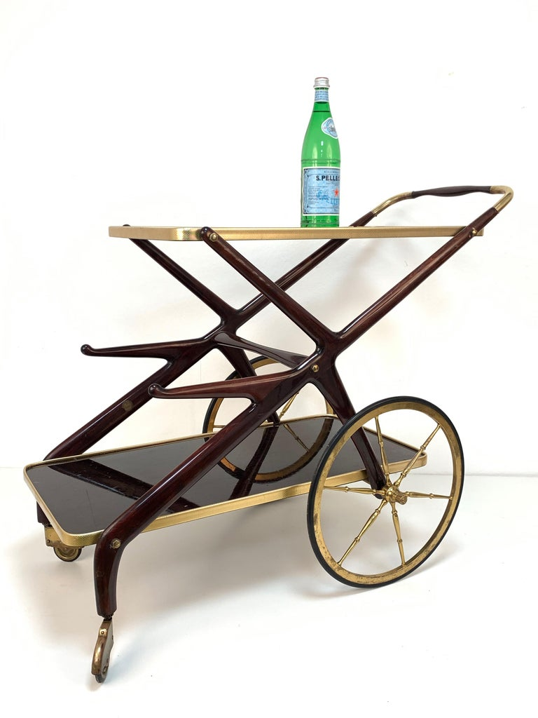 Italian Bar Cart Cesare Lacca, Italy, 1950s Mid-Century Modern 8