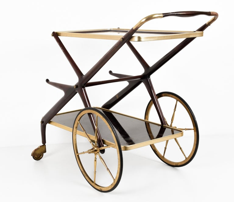 Italian Bar Cart Cesare Lacca, Italy, 1950s Mid-Century Modern 2