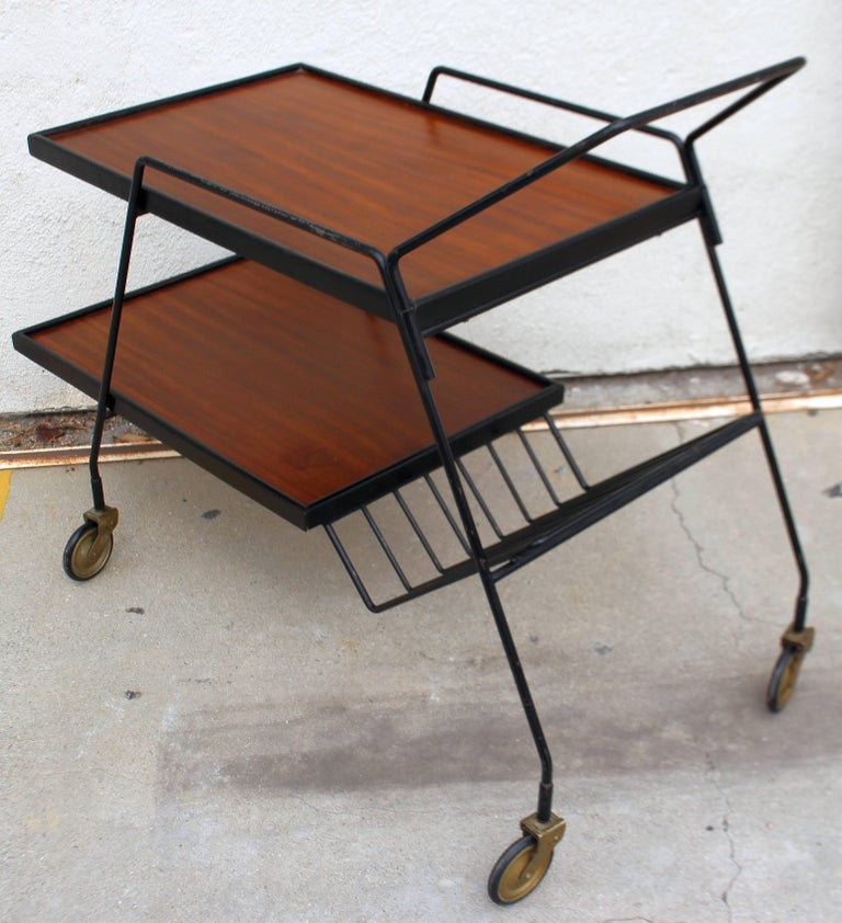 Mid-Century Modern Italian Bar Cart For Sale