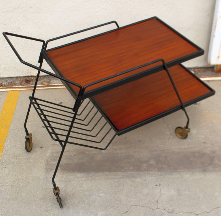 Italian Bar Cart In Good Condition For Sale In Los Angeles, CA