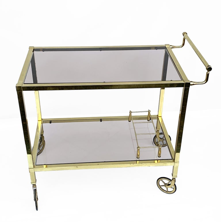 Exceptional two-level service cart from the Italian manufacturer.