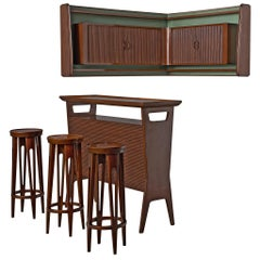 Italian Bar Set in Walnut