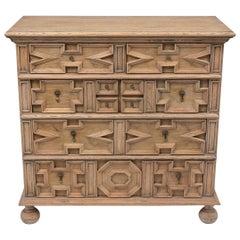 Italian Baroque Bleached Wood Finish Dresser