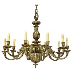 Italian Baroque Brass Chandelier