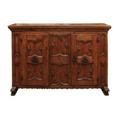 Italian Baroque Oak Credenza, Early 18th Century