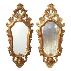 Italian Baroque Revival Giltwood Mirrors