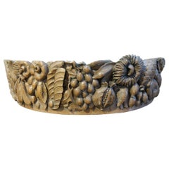 Italian Baroque Style Carved Capital Frieze Architectural Element, circa 1840