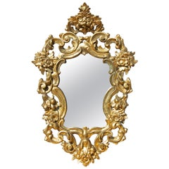 Italian Baroque Style Carved Gilt Mirror, 19th Century
